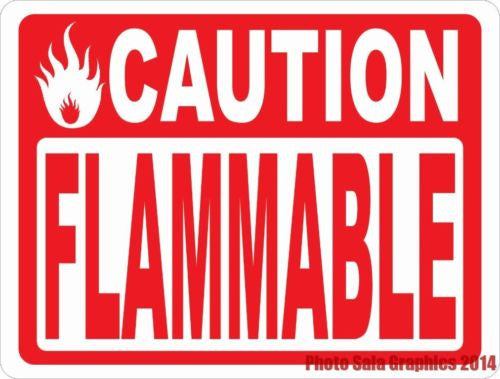 Caution Flammable Sign - Signs & Decals by SalaGraphics