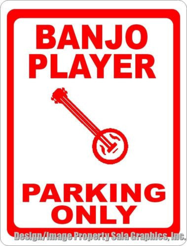 Banjo Player Parking Sign - Signs & Decals by SalaGraphics