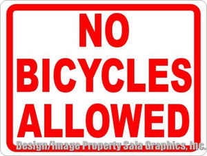 No Bicycles Allowed Sign - Signs & Decals by SalaGraphics
