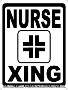 Nurse Xing Crossing Sign - Signs & Decals by SalaGraphics