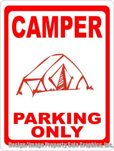 Camper Parking Only Sign - Signs & Decals by SalaGraphics