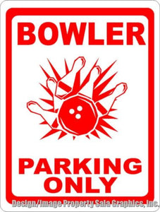 Bowler Parking Only Sign - Signs & Decals by SalaGraphics