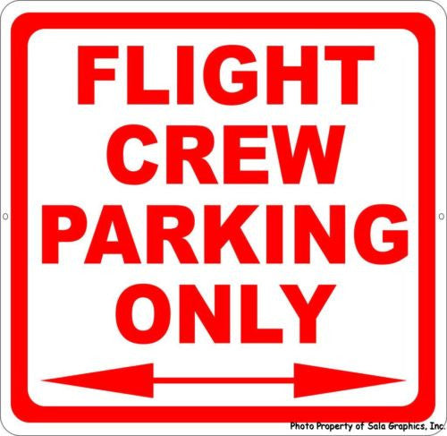 Flight Crew Parking Only Sign - Signs & Decals by SalaGraphics