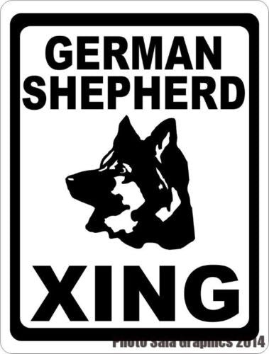 German Shepherd Xing Crossing Sign - Signs & Decals by SalaGraphics
