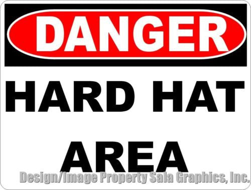 Danger Hard Hat Area Sign - Signs & Decals by SalaGraphics