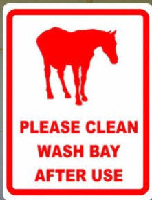 Please Clean Wash Bays After Use Sign - Signs & Decals by SalaGraphics