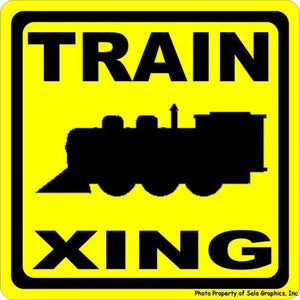 Train Xing Sign - Signs & Decals by SalaGraphics