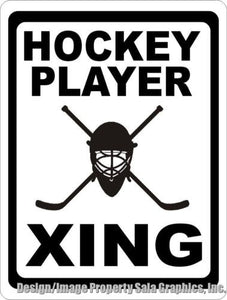 Hockey Player Xing Crossing Sign - Signs & Decals by SalaGraphics