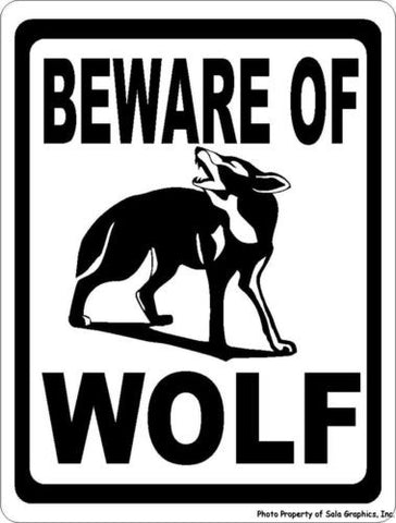 Beware of Wolf Sign