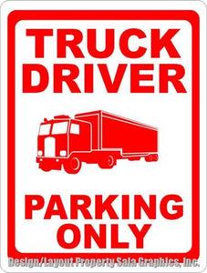Truck Driver Parking Only Sign - Signs & Decals by SalaGraphics