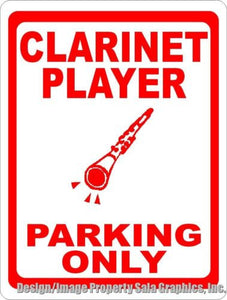 Clarinet Player Parking Sign - Signs & Decals by SalaGraphics