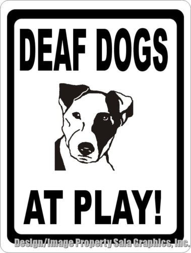 Deaf Dogs at Play Sign - Signs & Decals by SalaGraphics