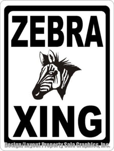 Zebra Xing Crossing Sign - Signs & Decals by SalaGraphics