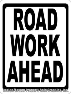 Road Work Ahead Sign - Signs & Decals by SalaGraphics