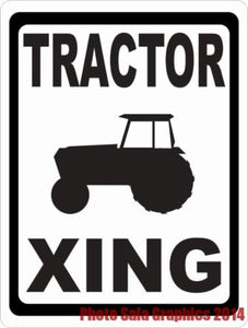 Tractor Xing Sign - Signs & Decals by SalaGraphics