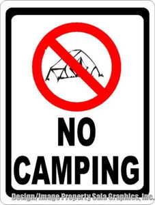No Camping Sign - Signs & Decals by SalaGraphics