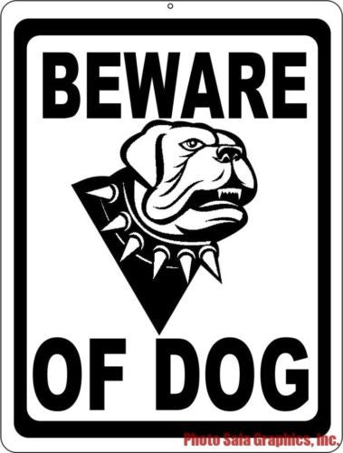 Beware of Dog Sign - Signs & Decals by SalaGraphics