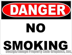 Danger No Smoking Sign - Signs & Decals by SalaGraphics