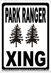 Park Ranger Xing Crossing Sign - Signs & Decals by SalaGraphics