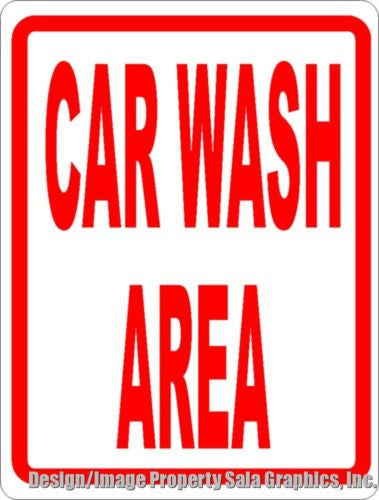 Car Wash Area Sign - Signs & Decals by SalaGraphics