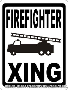 Firefighter Crossing Sign - Signs & Decals by SalaGraphics