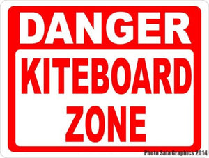 Danger Kiteboard Zone Sign - Signs & Decals by SalaGraphics