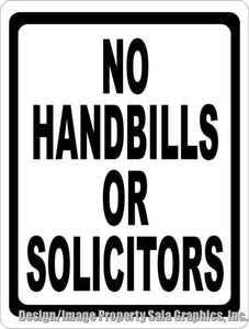 No Handbills or Solicitors Sign - Signs & Decals by SalaGraphics