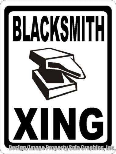 Blacksmith Xing Crossing Sign - Signs & Decals by SalaGraphics