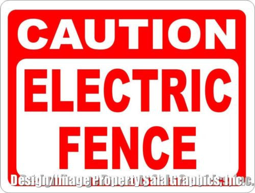 Caution Electric Fence Sign - Signs & Decals by SalaGraphics