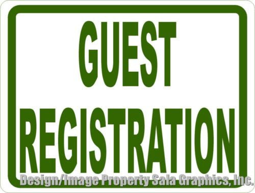 Guest Registration Sign - Signs & Decals by SalaGraphics