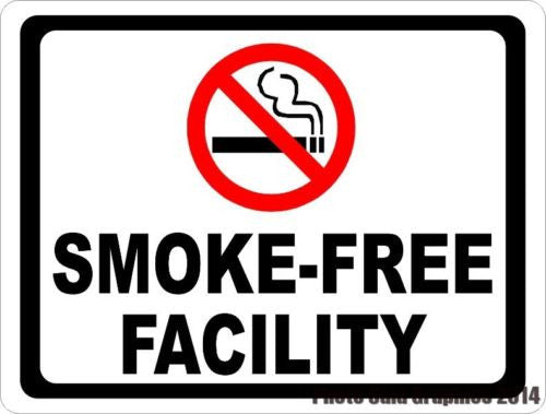 Smoke Free Facility Sign - Signs & Decals by SalaGraphics