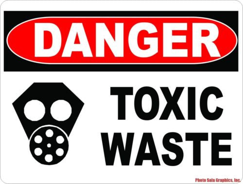 Danger Toxic Waste Sign - Signs & Decals by SalaGraphics