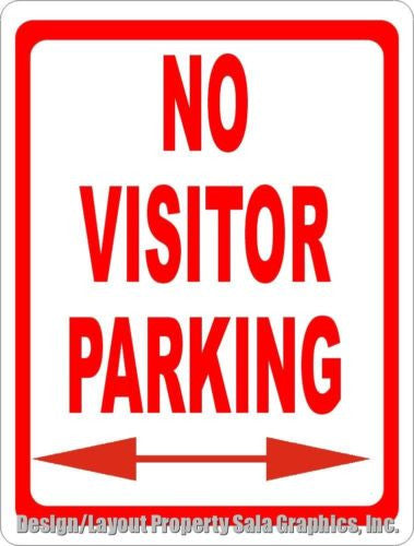 No Visitor Parking Sign - Signs & Decals by SalaGraphics