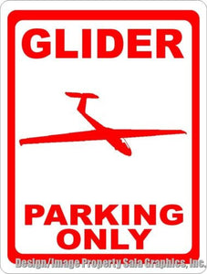Glider Parking Only Sign - Signs & Decals by SalaGraphics