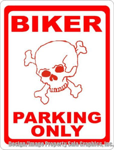 Biker Parking Only Sign - Signs & Decals by SalaGraphics