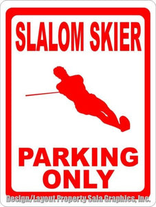 Slalom Skier Parking Only Sign - Signs & Decals by SalaGraphics
