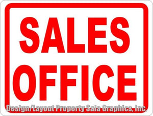 Sales Office Sign - Signs & Decals by SalaGraphics