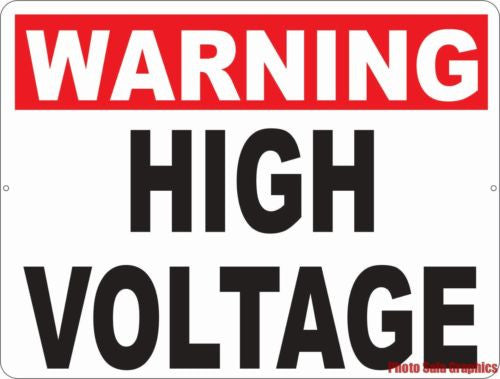 Warning High Voltage Sign - Signs & Decals by SalaGraphics