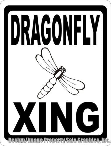Dragonfly Xing Crossing Sign - Signs & Decals by SalaGraphics