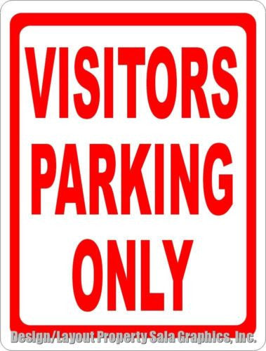Visitors Parking Only Sign - Signs & Decals by SalaGraphics