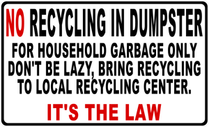 Dumpster Recycling Rules Magnet