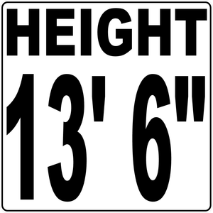 Semi Truck Height Indicator Decal