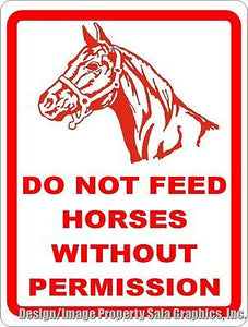 Do Not Feed Horses without Permission Sign - Signs & Decals by SalaGraphics