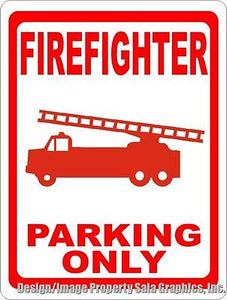 Firefighter Parking Only Sign - Signs & Decals by SalaGraphics
