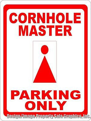 Cornhole Master Parking Only Sign - Signs & Decals by SalaGraphics