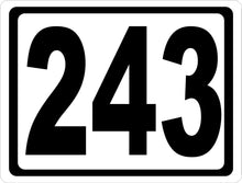 Custom Address Numbers Sign - Signs & Decals by SalaGraphics
