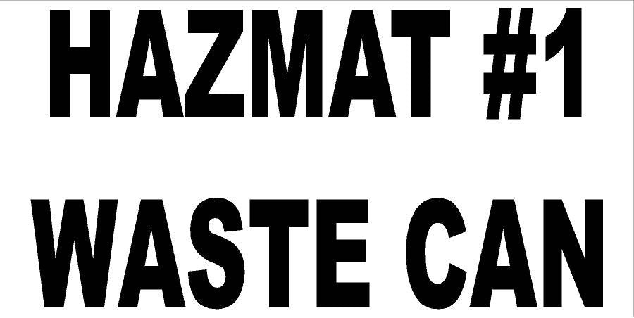 3x6 Hazmat Waste Can Decal