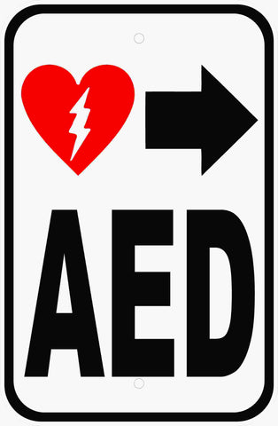 AED Sign Automated External Defibrillator