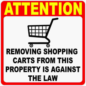 Do Not Remove Shopping Carts Decal
