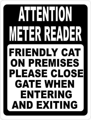 Attention Meter Reader Sign